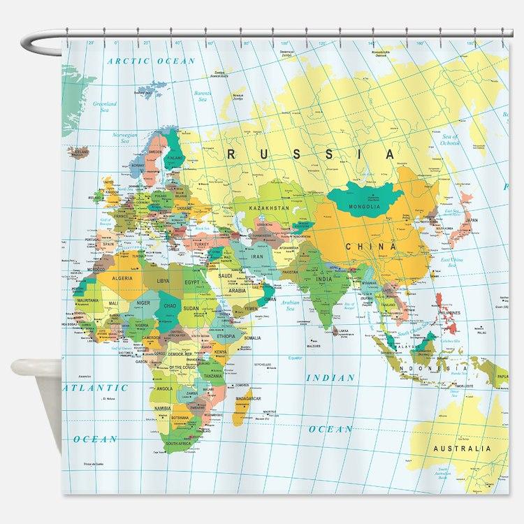 World Map Bathroom Accessories Decor Cafepress