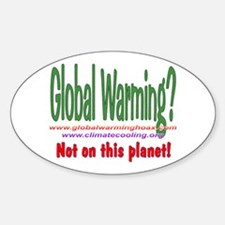 Global Cooling Oval Decal