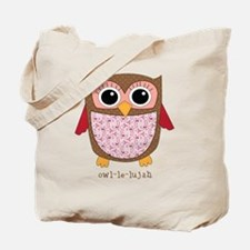 Retro Owl in pink Tote Bag
