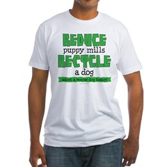 Recycle a dog Fitted T-Shirt