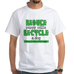 Recycle a dog White T-Shirt