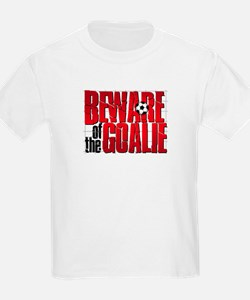 Beware Of The Goalie Kids Tee