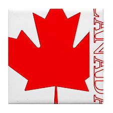 Candian Maple Leaf Tile Coaster