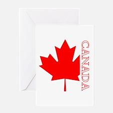 Candian Maple Leaf Greeting Card