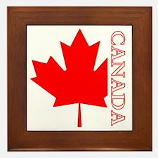 Candian Maple Leaf Framed Tile