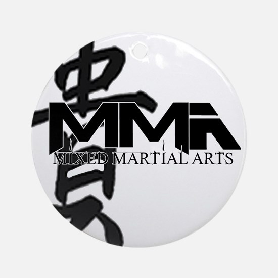 MMA Kanji Honor - Black Logo Ornament (Round)