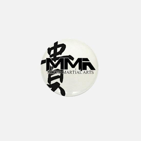 MMA Kanji Honor - Black Logo Mini Button