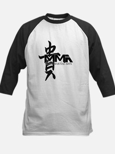 MMA Kanji Honor - Black Logo Kids Baseball Jersey