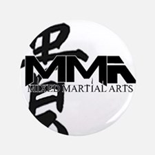 "MMA Kanji Honor - Black Logo 3.5"" Button"