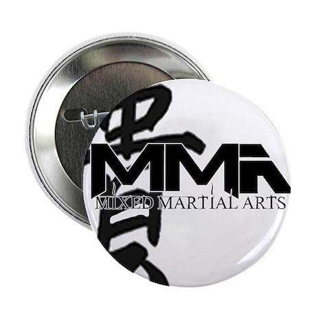 "MMA Kanji Honor - Black Logo 2.25"" Button (100 pac"