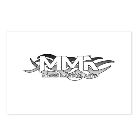 MMA Tribal Logo Silver Postcards (Package of 8)