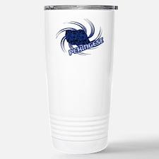 Blue Mode Pekingese Travel Mug
