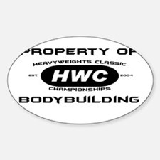 Property of HWC Bodybuilding Oval Decal