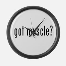 got muscle? Large Wall Clock