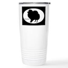 Pomeranian Silhouette Travel Mug
