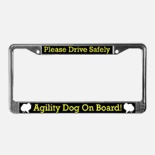 Pomeranian Agility Dog License Plate Frame