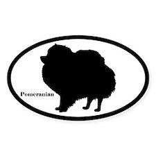 Pomeranian Silhouette Sticker (Euro-Style)