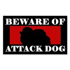 Beware of Attack Dog Pomeranian Decal
