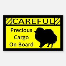 Precious Cargo Pomeranian Sticker (Rect)