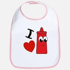 I Heart Ketchup Bib