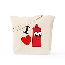I Heart Ketchup Tote Bag