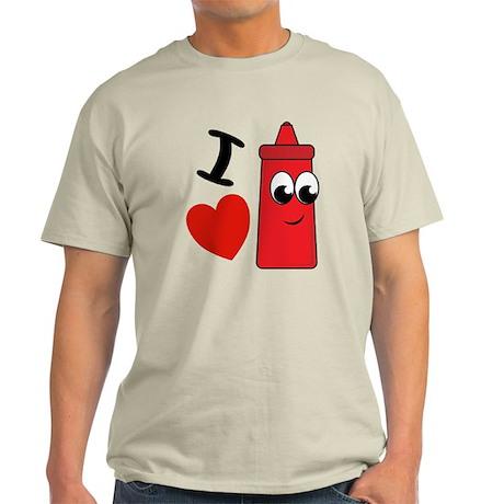 I Heart Ketchup Light T-Shirt