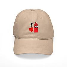 I Heart Ketchup Baseball Cap