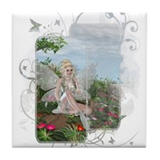 At the Waters Edge Fairy Tile Coaster