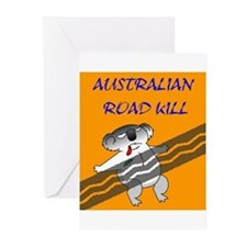 australian road kill (koala) Greeting Cards (Packa