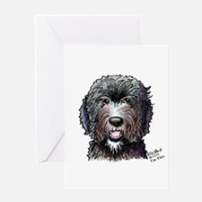 WB Black Doodle Greeting Card