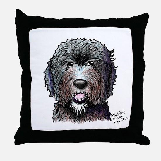 WB Black Doodle Throw Pillow