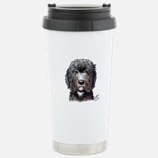 WB Black Doodle Stainless Steel Travel Mug