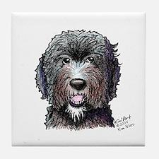 WB Black Doodle Tile Coaster
