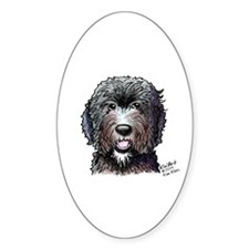 WB Black Doodle Oval Decal