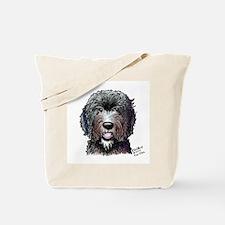 WB Black Doodle Tote Bag