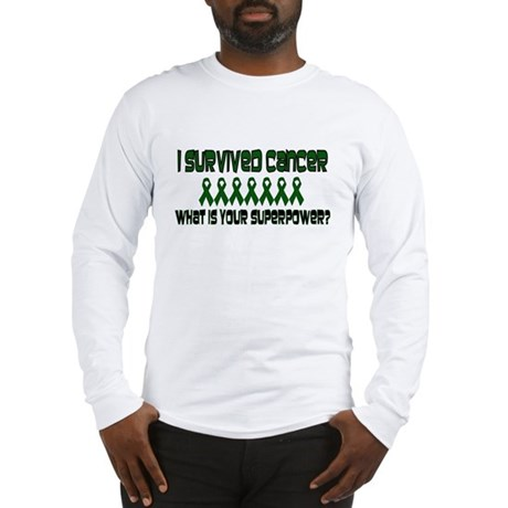 Green Superpower Long Sleeve T-Shirt