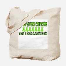 Lime Superpower Tote Bag