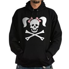 Girl Skull With Pink Bow Hoodie
