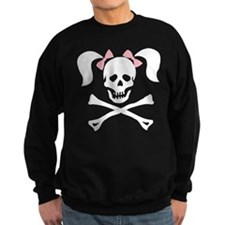 Girl Skull With Pink Bow Sweatshirt