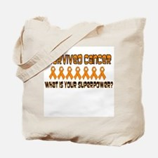 Orange Superpower Tote Bag