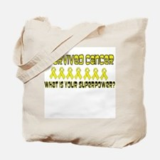 Yellow Superpower Tote Bag