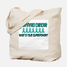 Teal Superpower Tote Bag