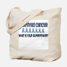 Light Blue Superpower Tote Bag