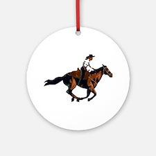 Gallop Girl Ornament (Round)