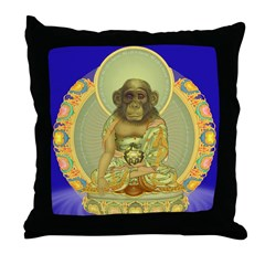 Our Cousin the Buddha! Decorative Pillow