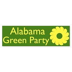 Alabama Green Party Bumper Bumper Sticker