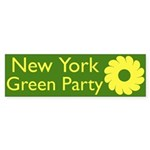 New York Green Party bumper sticker