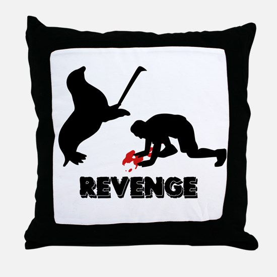 Revenge of the seals Throw Pillow