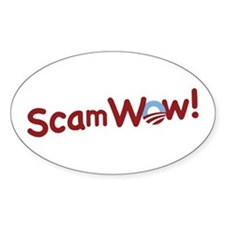 Obama ScamWow! Oval Decal