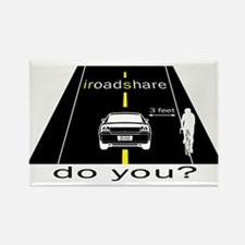 iRoadShare for Cyclists Rectangle Magnet
